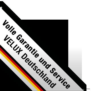 Banderole: Volle Garantie und Service VELUX Deutschland
