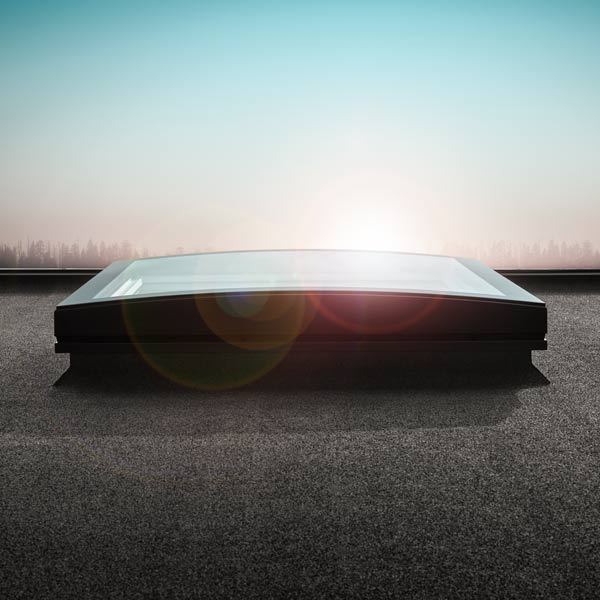 VELUX Flachdachfenster KONVEX-GLAS