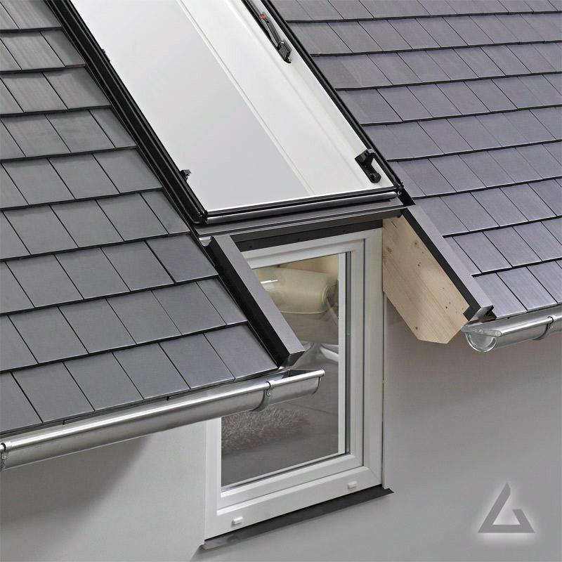 Fassadenanschlussfenster WFA R1 Kunststoff