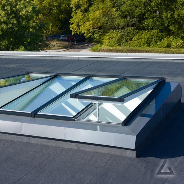 Flachdach Lösungen Modulares Oberlicht System