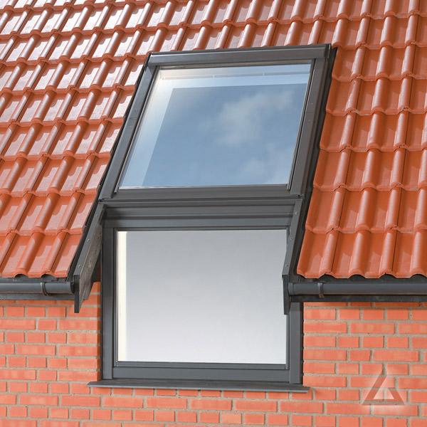 Fassadenanschluss Eindeckrahmen