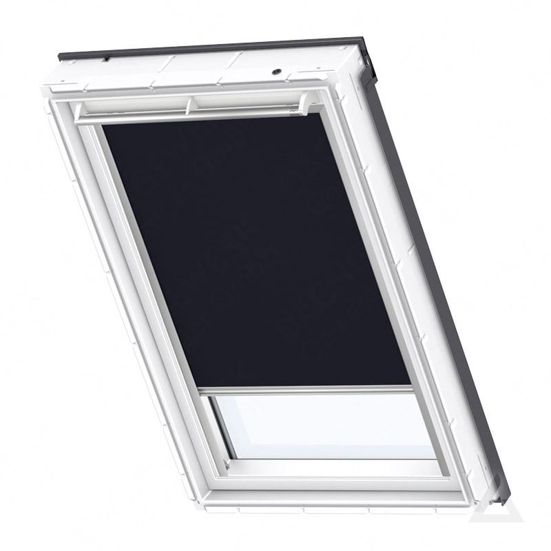 velux verdunkelungs rollo manuell dkl c02 1100s uni dunkelblau g nstig kaufen bei dachgewerk. Black Bedroom Furniture Sets. Home Design Ideas