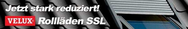 Bis zu 22 % auf VELUX Solar-Rollläden SSL!
