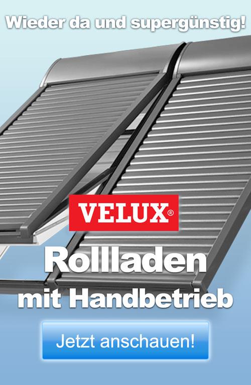 Endlich wieder erhältlich: der VELUX Kurbel-Rollladen SHL!
