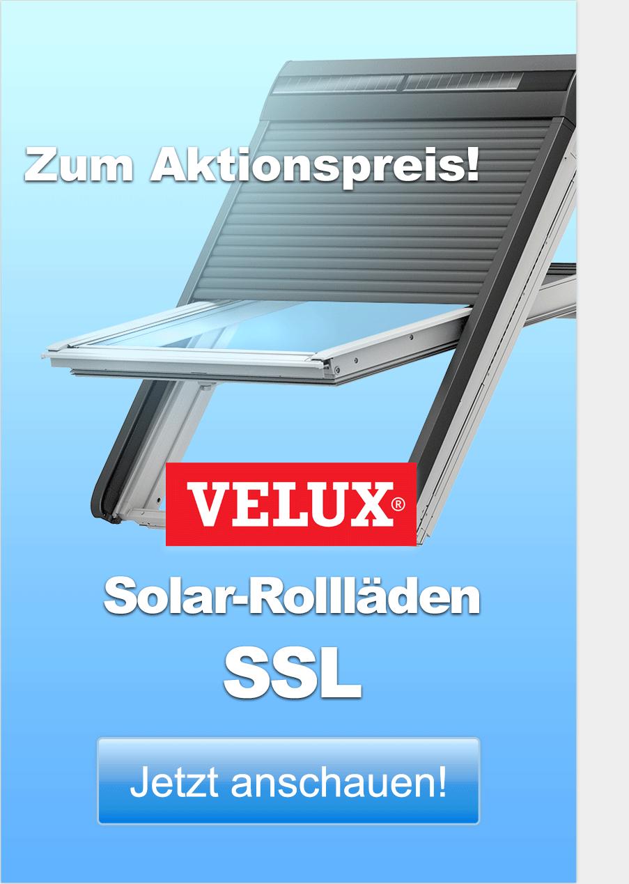 Bis zu 22 % (Ersparnis gegenüber dem Listenpreis) auf VELUX Solar-Rollläden SSL. Jetzt anschauen!