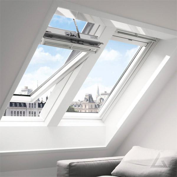 INTEGRA Schwingfenster GGL solar Holz weiss lackiert