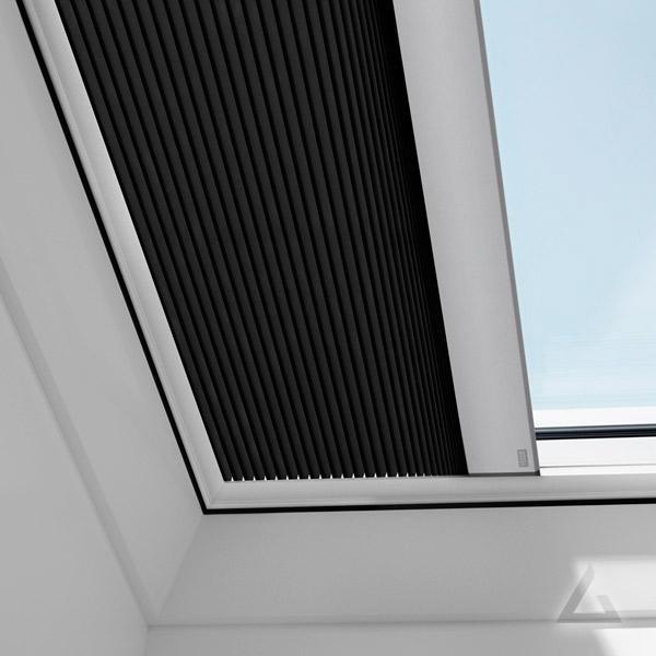 Wabenplissee FMK elektrisch für Flachdach Fenster