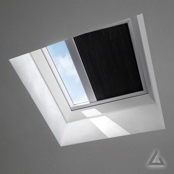 Wabenplissee FSK solar für Flachdach Fenster