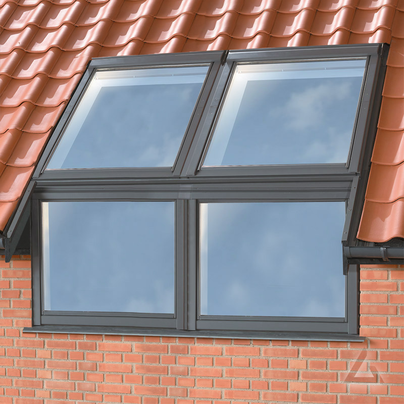 Zwillings Fassadenanschluss Eindeckrahmen